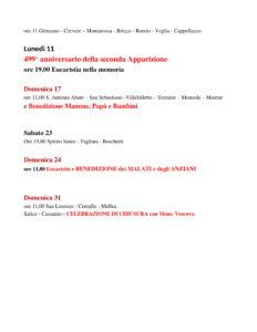 Maggio 2020 Calendario pellegrinaggi CUSSANIO-2